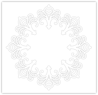 ornate circle free hand embroidery pattern