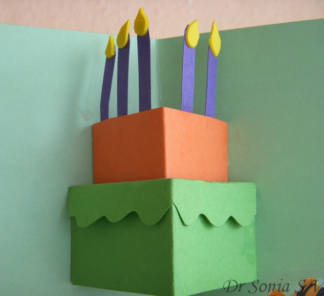 Cards crafts kids projects simple pop up card pop up cake card pop up birthday cake card bookmarktalkfo Gallery