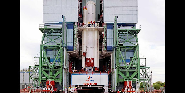 PSLV-C28 Strap-Ons are being assembled with Core Stage at Mobile Service Tower. Credit: ISRO