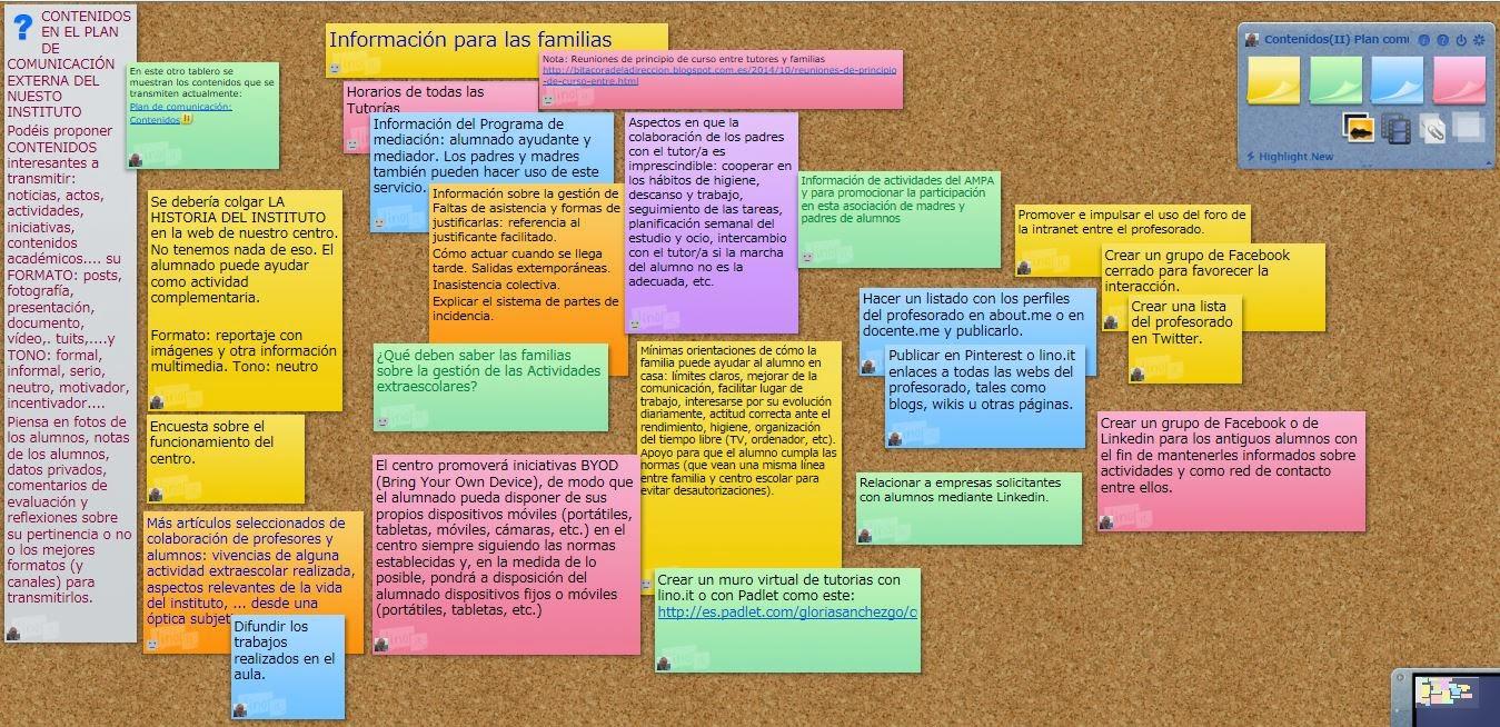 Aprendizaje en la red for El mural de anuncios