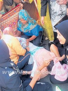 Isteri, tertuduh, bersalin, di, mahkamah, Kangar, Perlis, Dadah, Malaysia