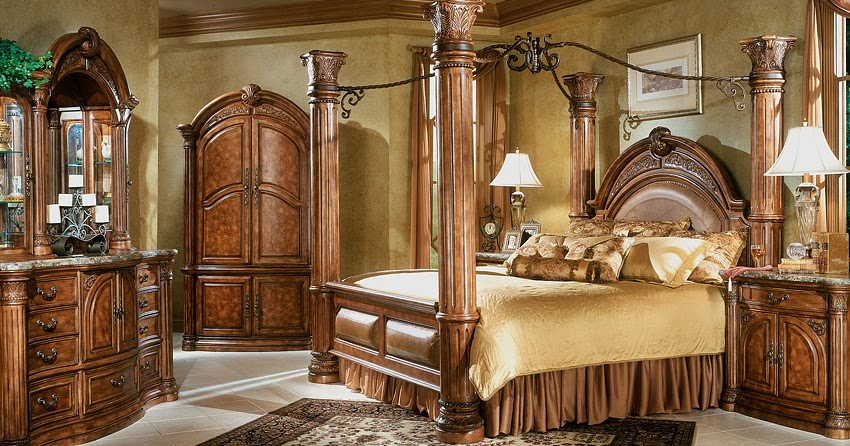 Monte Carlo Bedroom Set Aico Monte Carlo Canopy Bed