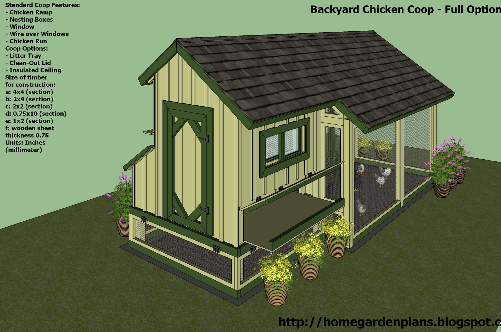 Yam coop chicken coop plans for 75 chickens for Plans for chicken coops