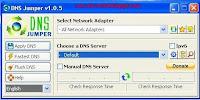 Cara Membuka Situs yang Diblokir dengan DNS Jumper V.1.0.5