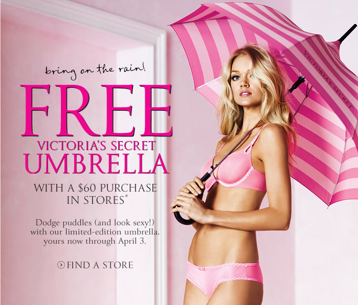 However, you may occasionally find Victorias Secret discount codes for a percentage off any item. Victorias Secret promotions also include free gifts with purchase or free shipping with a minimum order. Don't forget to sign up for Victorias Secret emails to find out when their biggest sales of 76%().