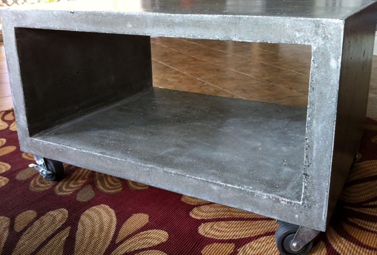 Modern Rectangular Coffee Table - Rectangular concrete coffee table