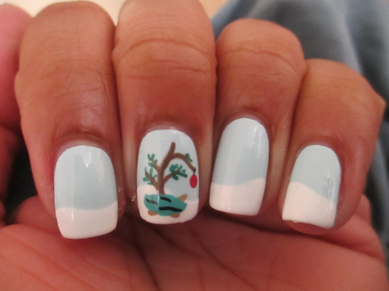 Fairly Charming: 12 Mani\'s of Christmas #12... Charlie Brown ...