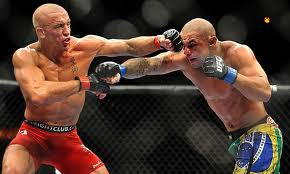ufc mma fighters george rush st pierre gsp vs thiago alves picture image
