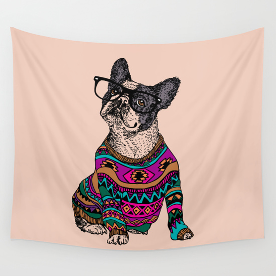 Quirky, Brown Love | This Quirky Home: My Favorite Tapestries From Society6