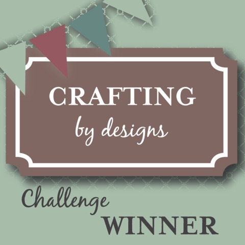 Winner at Crafting By Designs Challenge Blog