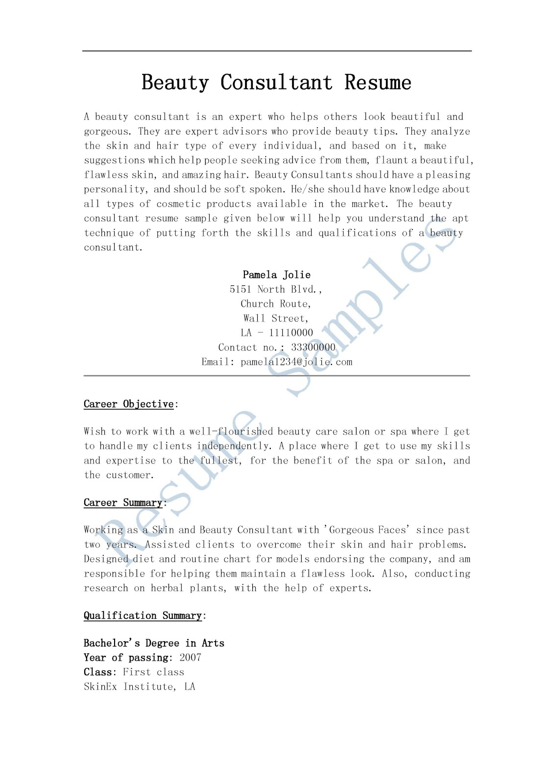 resume samples beauty consultant resume resume sample cosmetology  also resume samples beauty consultant resume