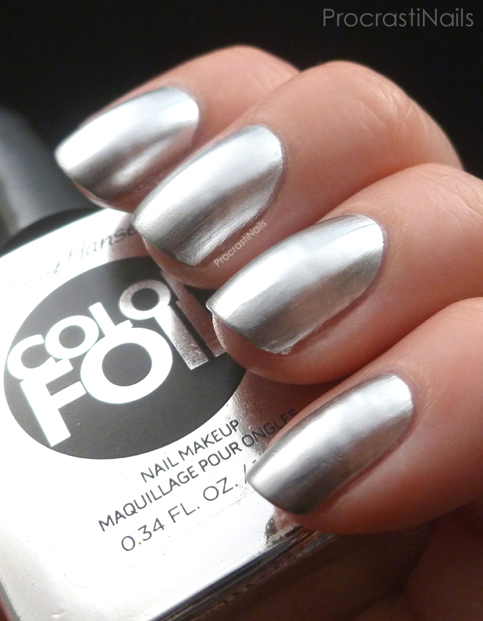Duped?!: OPI Push & Shove vs. Sally Hansen Color Foil Sterling ...
