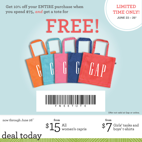 A Day Late and A Dollar Short: GAP Outlet - 10% Printable Coupon and ...