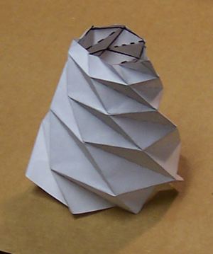 indiscriminantmaking conical folding structures