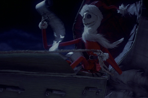 Jack skellington santa sleigh