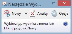 Narzędzie wycinanie w Windows 8
