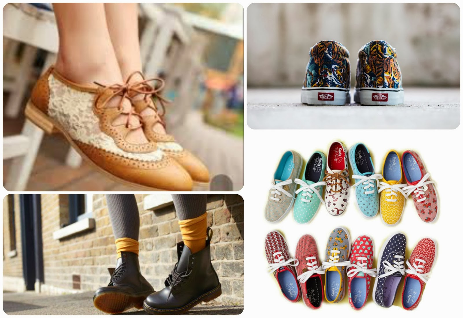 Shoes hipster girl - Zapatos de la chica hipster - Oxford, vans, converse, boots, keds