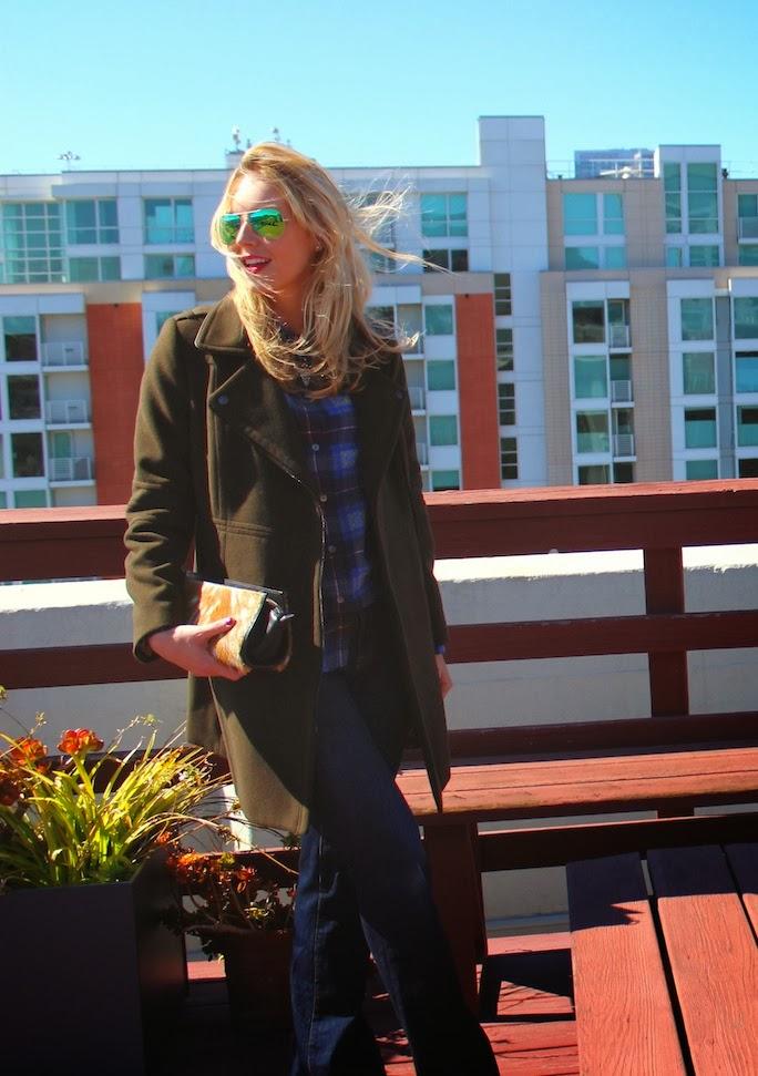 plaid blouse streetstyle