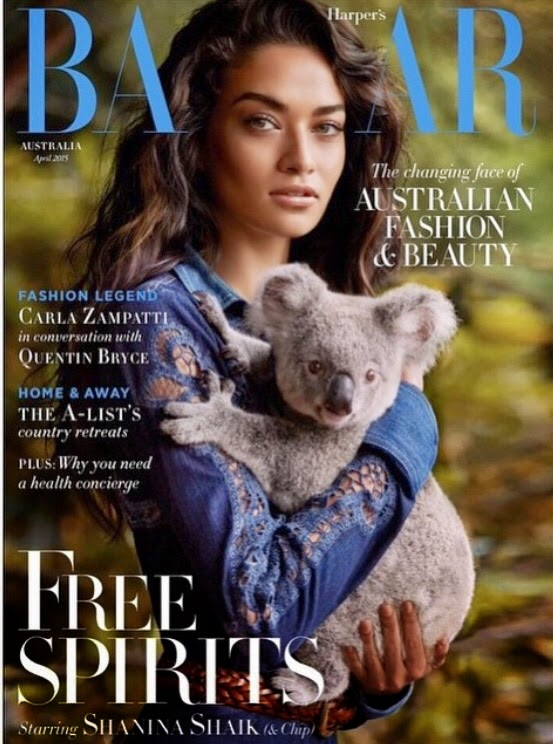 Model @ Shanina Shaik by Simon Upton for Harper's Bazaar Australia April 2015