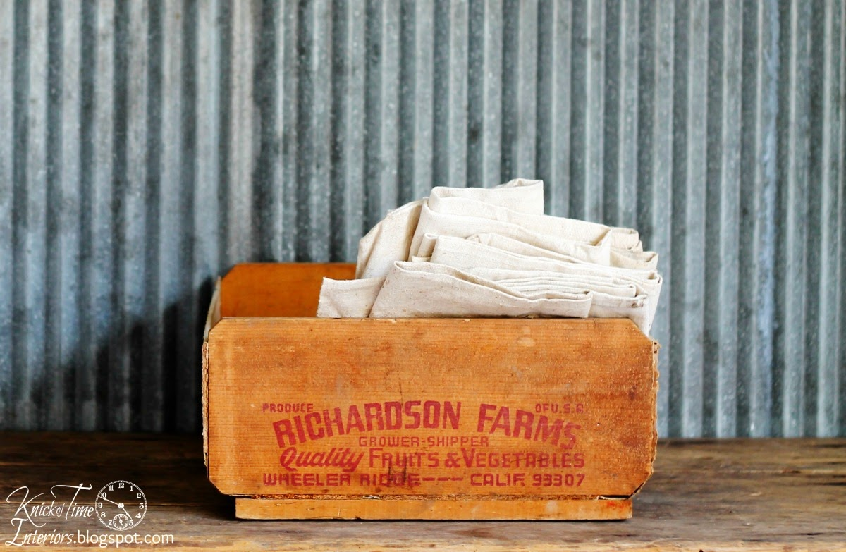 Antique Produce Crate via Knick of Time