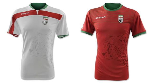 Camisetas selección Irán Mundial 2014