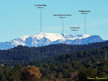 "Zoom a la Tossa d'Alp des del Pla de Vilamajor. Autor: Francesc ""Caminaire"""