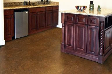 Cork tiles for kitchen