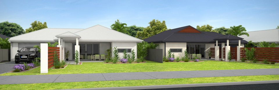 3D Front Elevationcom Modern Form House Front Elevation