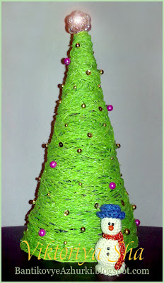 снеговичок-амигуруми на елку своими руками