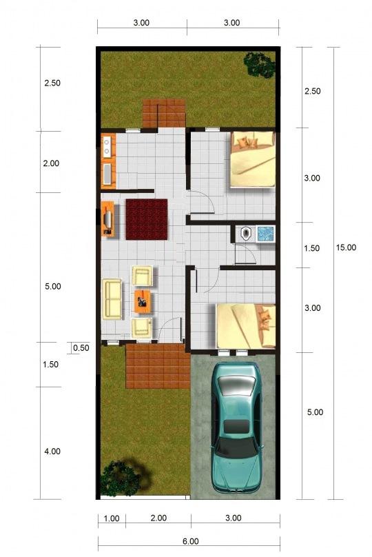 Contoh Desain Gambar Rumah Minimalis Type 45 |Terbaru