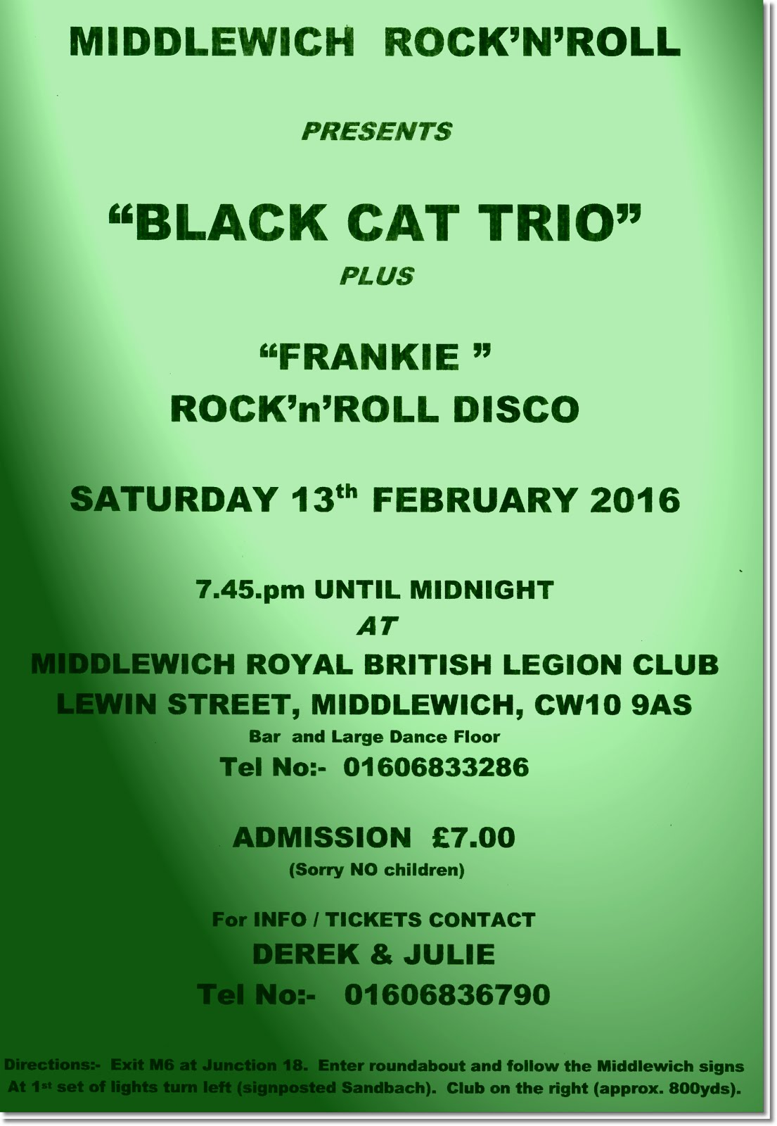 MUSIC IN MIDDLEWICH - THE BLACK CAT TRIO