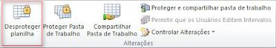 Excel 2010 - Desproteger Planilha