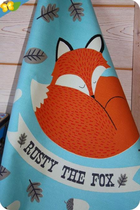 Torchon Rusty the Fox et sa boîte par Rex