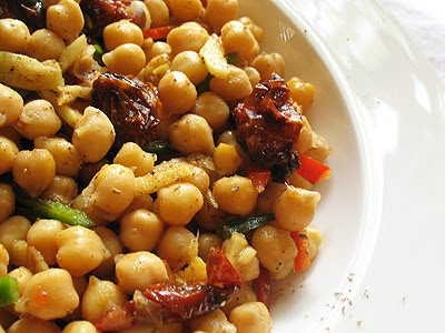 gingered chickpea salad