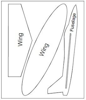 Indian aero sports and science making of chuck glider for Airplane cut out template