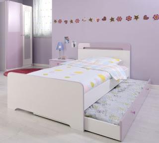 habitación adolescente lila