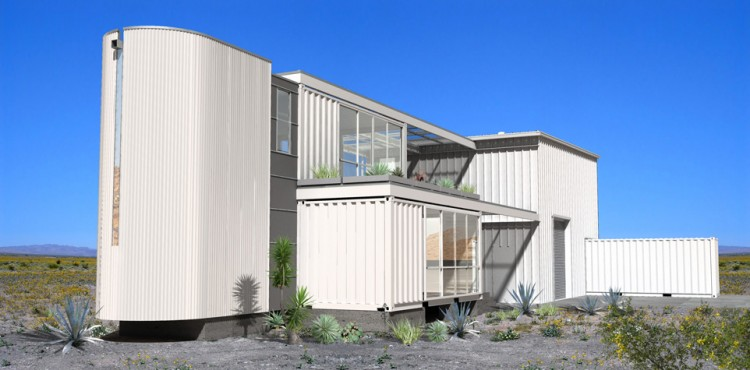 Shipping container homes ecotech build container home mojave desert california - Container homes california ...