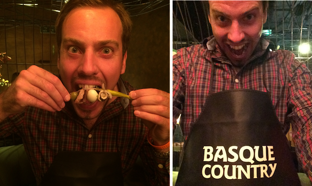 Simon at the Basque Country food event #UKCooksBasque