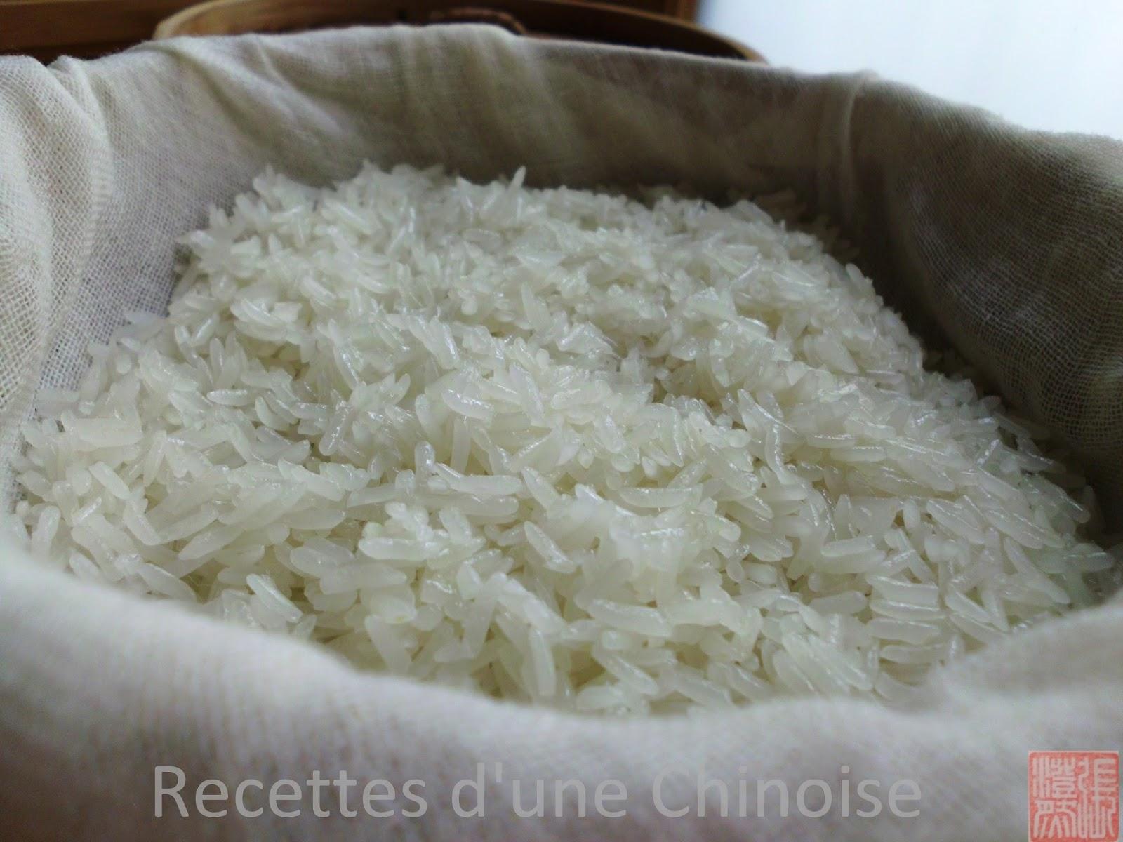 Recettes d 39 une chinoise comment faire cuire du sticky rice riz gluant - Absorber l humidite avec du riz ...