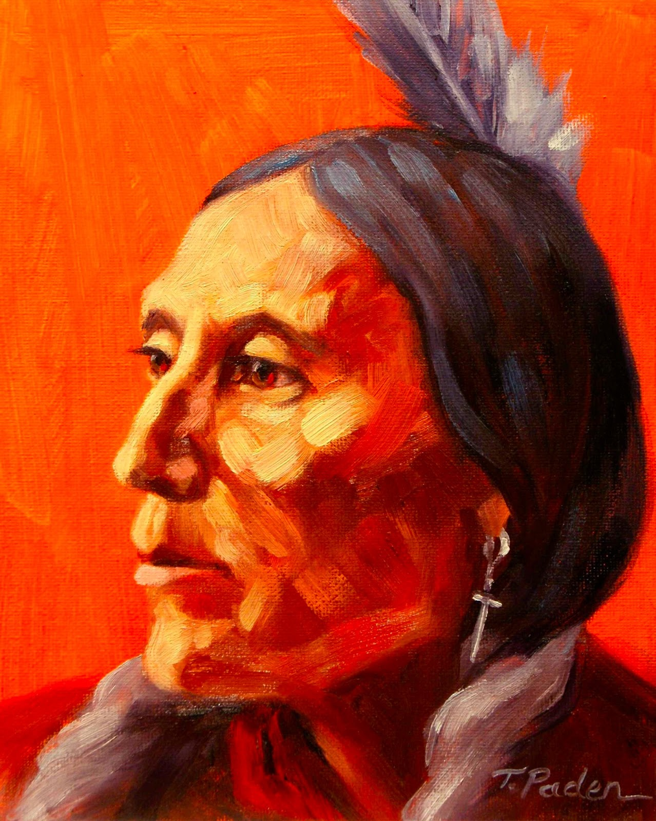 Oil Paintings of Native Americans http://paintingsbytheresapaden.blogspot.com/2013/02/native-american-study-3-by-theresa.html