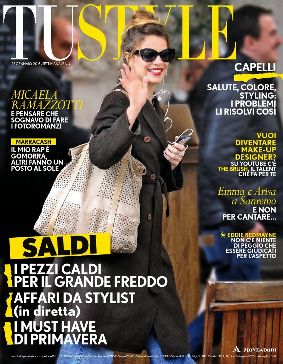 Actress: Micaela Ramazzotti for Tu Style Magazine