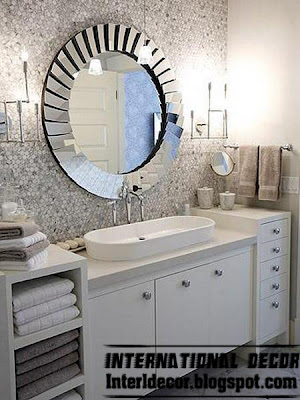 modern round mirror frame for bathroom, modern mirror glass frame