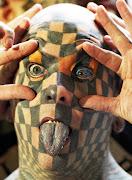 Tatuaje raro en el rostro · Juan Barreto, AFP / Getty Images