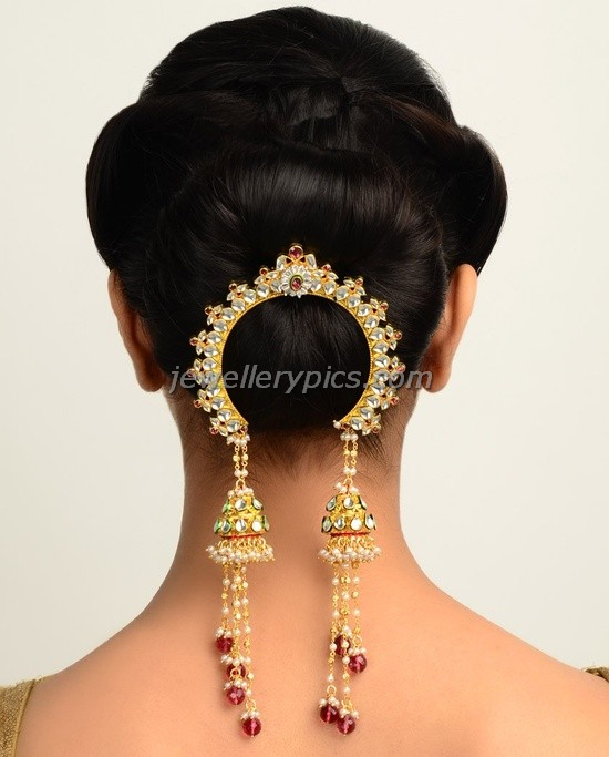Hair Style Jooda : Juda pin Ambada - Indian hair jewellery - Latest Jewellery Designs