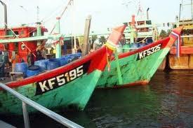 dua kapal malasysia ditangkap