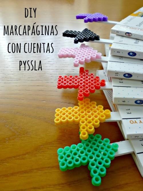 DIY marcapaginas Pyssla Hama