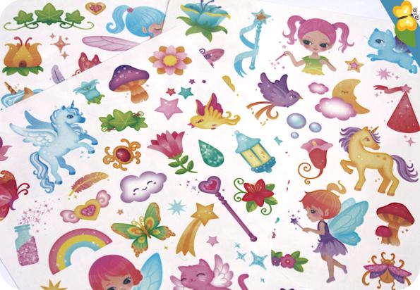 Tatouages Monde Magique - Fleurus - Candybird