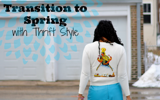 transition to spring with thrift style