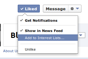 add a page to your interest list Make your Facebook SPAM free