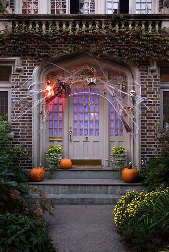 Inspired Admired Autumn Halloween Door Decorating